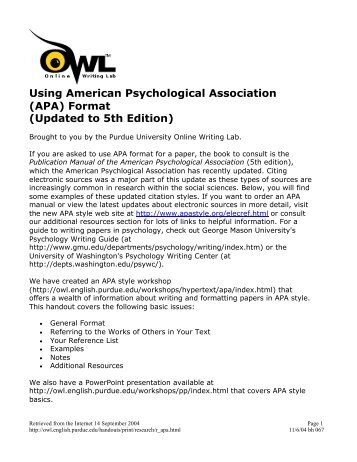 how to cite information using apa format hartnell college