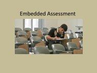 Embedded Assessment