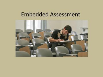 Embedded Assessment