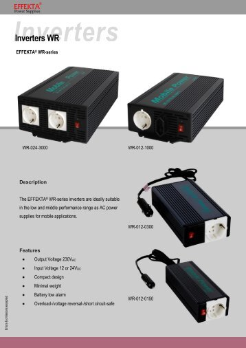 Inverters Inverters WR - Effekta