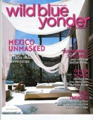 The Low Down Wild Blue Yonder by: Liz Scheier March/April 2009