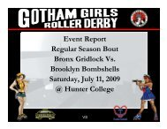 Regular Season Bout #4, Brooklyn vs. Bronx - Gotham Girls Roller ...
