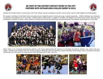 2011 Sponsorship Packet - Gotham Girls Roller Derby
