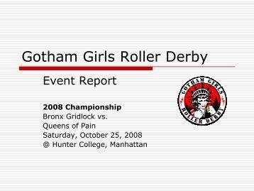 Championship Bout - Gotham Girls Roller Derby
