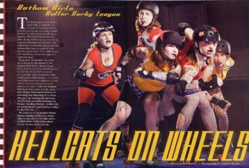 Hellcats on Wheels Rebel Ink by - Gotham Girls Roller Derby