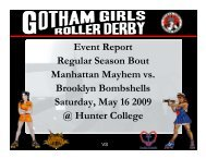 Regular Season Bout #2, Brooklyn vs. Manhattan - Gotham Girls ...