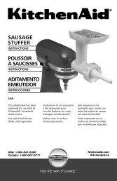 Sausage Stuffer Attachment - KitchenAid