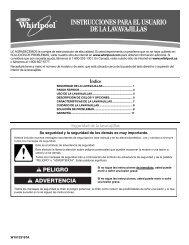 instrucciones para el usuario de la lavavajillas - KitchenAid