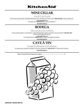 WINE CELLAR BODEGA CAVE À VIN - KitchenAid