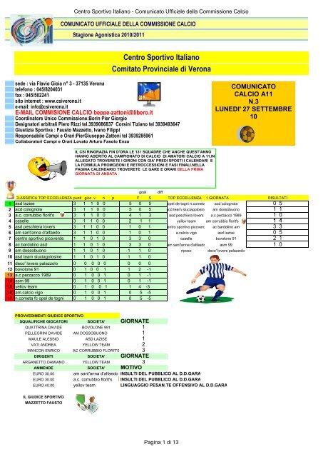 Centro Sportivo Italiano Comitato Provinciale di Verona - CSI Verona 314e210a3907d