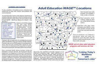 Adult Education/WAGE Programs - Arkansas Department of Career ...