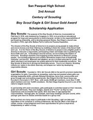 Boy Scout Eagle & Girl Scout Gold Award Scholarship Application