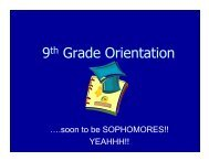 9th Grade Orientation - San Pasqual High School