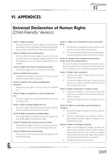 An essay on the declaration of the rights of the child