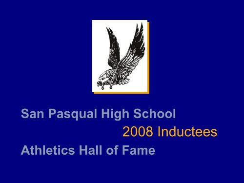 View the 2008 Athletic Hall of Fame Inductee's Bios