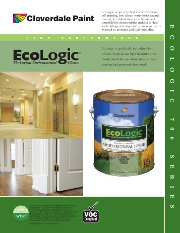 ECOLOGIC 706 SERIES - Cloverdale Paint