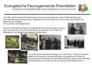Gesellschaft - Evangelische Kirchengemeinde Rheinfelden