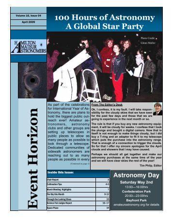 April 2009 .pub - Hamilton Amateur Astronomers