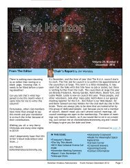 December - Hamilton Amateur Astronomers