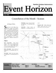 Constellation of the Month - Scutum - Hamilton Amateur Astronomers