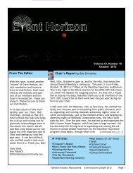 October - Hamilton Amateur Astronomers