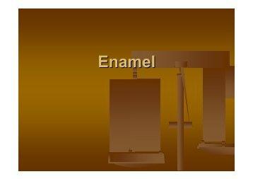 lec.6 Enamel