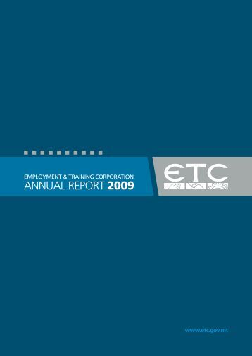 ETC Annual Report 2009 - Employment and Training Corporation