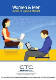 Women & Men In the IT Labour Market - Employment and Training ...