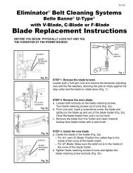 Blade Replacement Instructions - Flexco