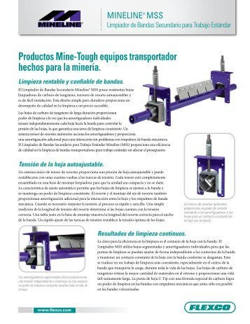 Productos Mine-Tough equipos transportador hechos para ... - Flexco