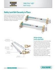 Safely Lock Belt Securely in Place - Flexco