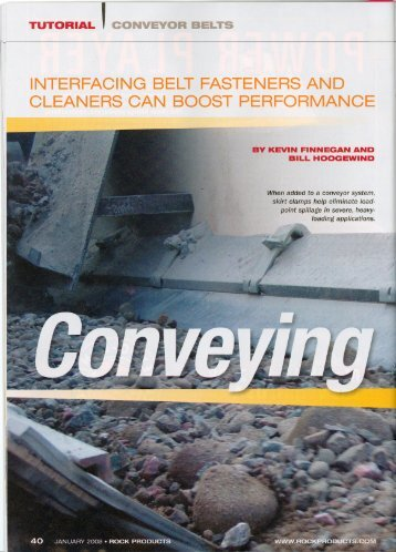 Interfacing Belt Fasteners and Cleaners Can Boost ... - Flexco