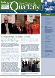 Fulbright New Zealand Quarterly, February 2008