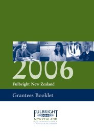 2006 Fulbright New Zealand Grantees Booklet