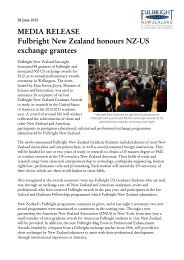 Fulbright New Zealand honours NZ-US exchange grantees