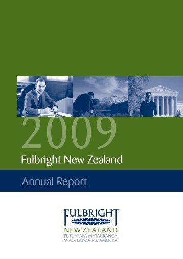 2009 Fulbright New Zealand Annual Report
