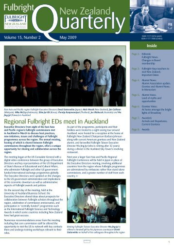 Fulbright New Zealand Quarterly, May 2009
