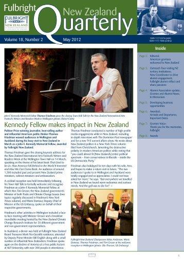 Fulbright New Zealand Quarterly, May 2012