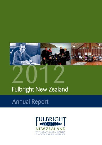 2012 Fulbright New Zealand annual report