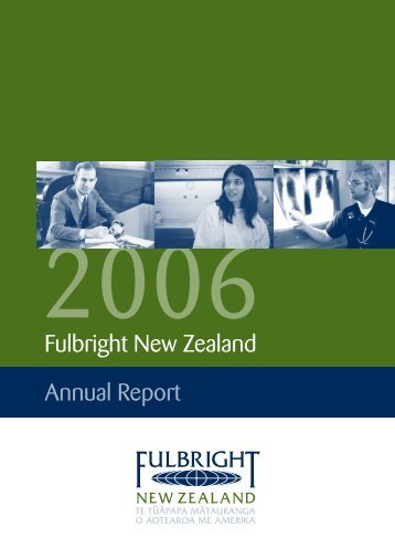 2006 Fulbright New Zealand Annual Report