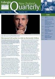 Fulbright New Zealand Quarterly, November 2011