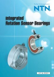 Integrated Rotation Sensor Bearings - NTN