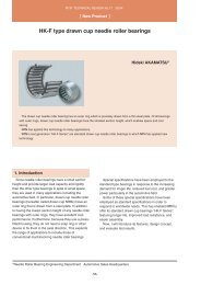 [New Products] HK-F type drawn cup needle roller bearings - NTN