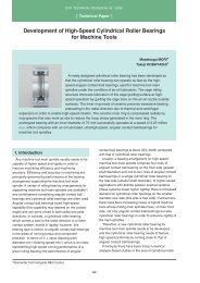 Development of High-Speed Cylindrical Roller Bearings for ... - NTN