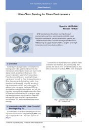 [New Product] Ultra-Clean Bearing for Clean Environments - NTN