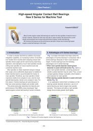 High-speed Angular Contact Ball Bearings New 9 Series for ... - NTN