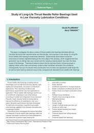 Study of Long-Life Thrust Needle Roller Bearings Used in ... - NTN