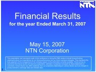 Business Results - NTN