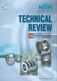 Special Issue; Products for Industrial Machinery - NTN