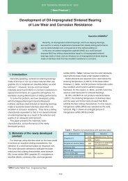[New Product] Development of Oil-impregnated Sintered ... - NTN